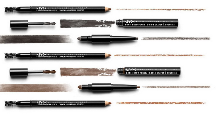 NYX Professional Makeup 3-in-1 Brow Pencil Summer 2017
